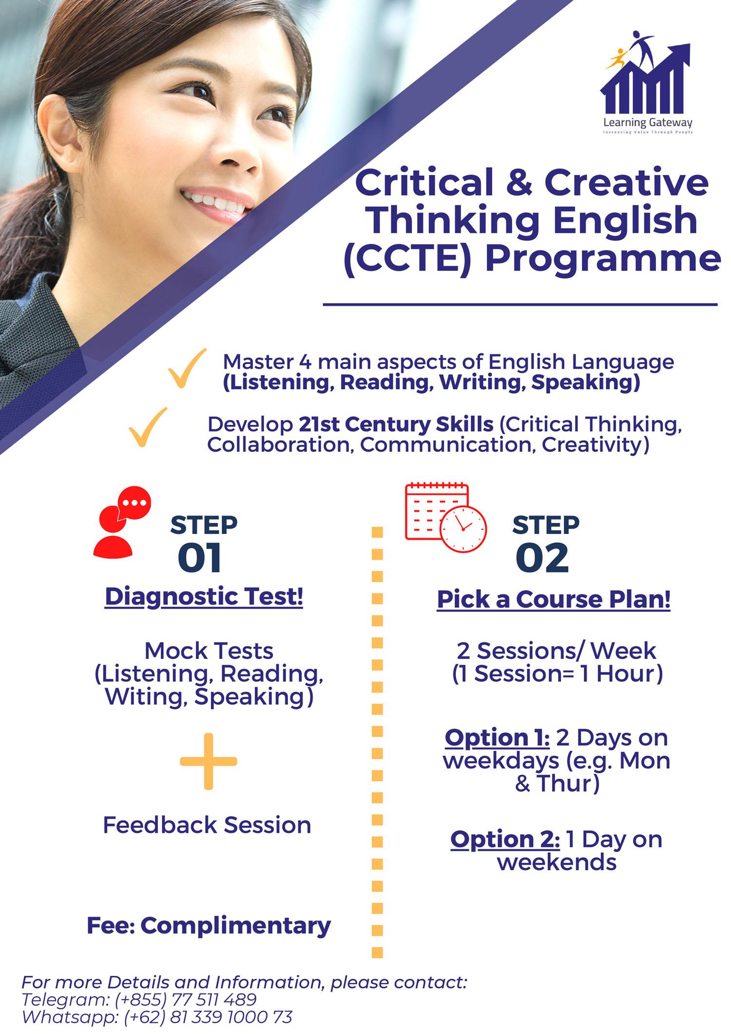 Critical & Creative Thinking English Programme
