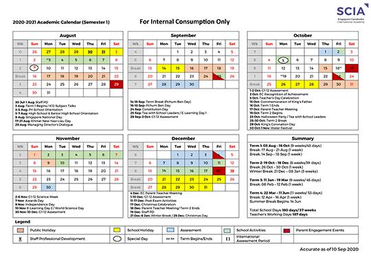 AY 2020/2021 Calendar